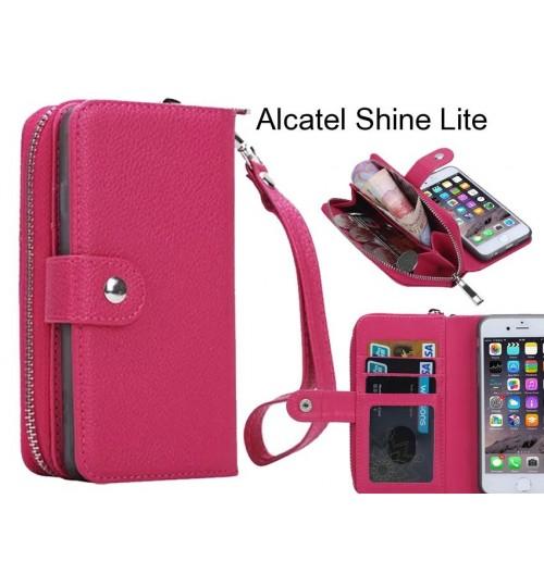 Alcatel Shine Lite Case coin wallet case full wallet leather case
