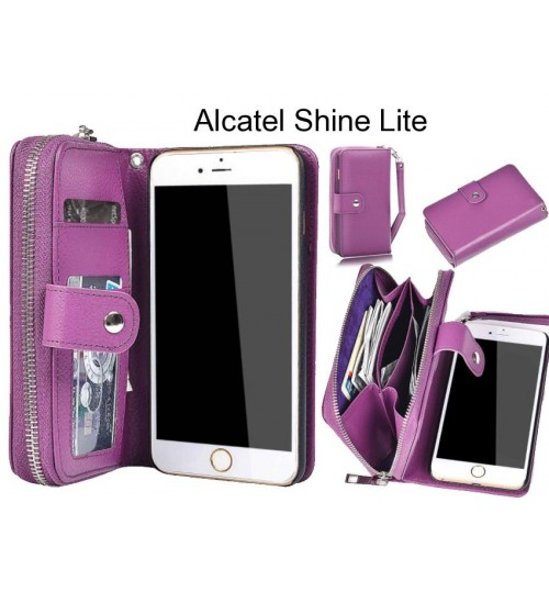 Alcatel Shine Lite Case coin wallet case full wallet leather case