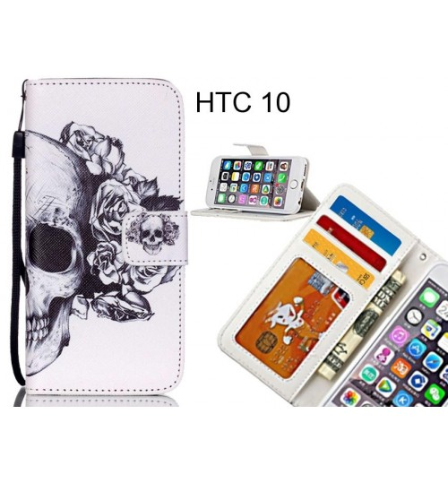 HTC 10 case 3 card leather wallet case printed ID
