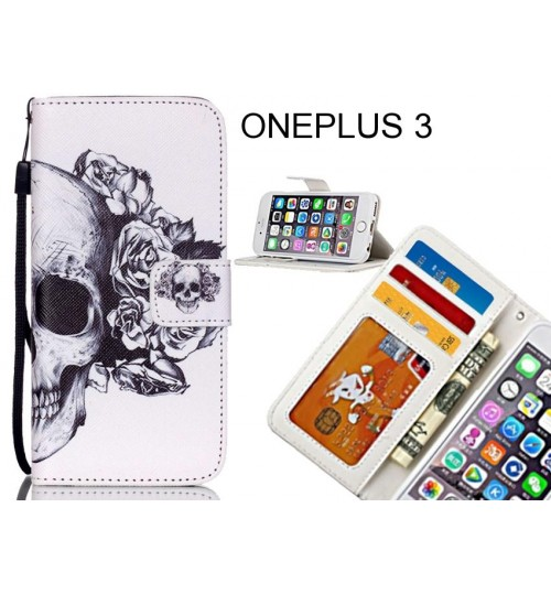 ONEPLUS 3 case 3 card leather wallet case printed ID