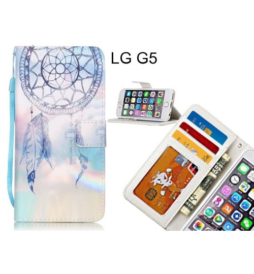 LG G5 case 3 card leather wallet case printed ID