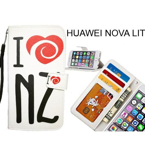 HUAWEI NOVA LITE case 3 card leather wallet case printed ID