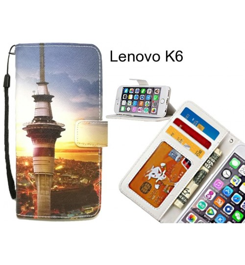 Lenovo K6 case 3 card leather wallet case printed ID