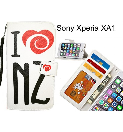Sony Xperia XA1 case 3 card leather wallet case printed ID