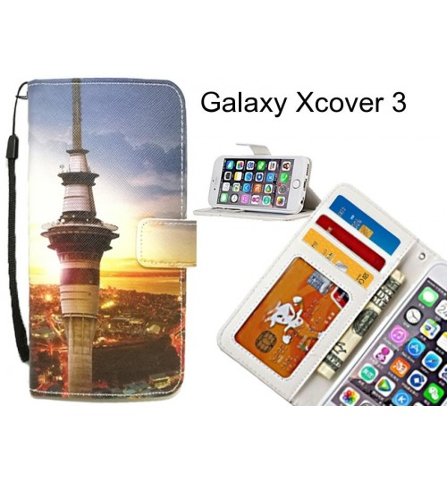 Galaxy Xcover 3 case 3 card leather wallet case printed ID