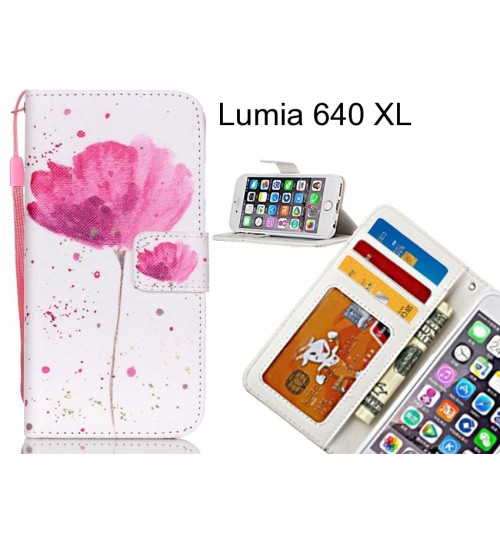 Lumia 640 XL case 3 card leather wallet case printed ID
