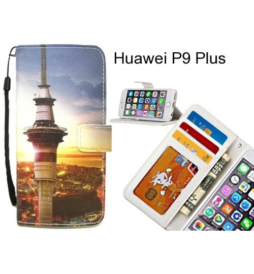 Huawei P9 Plus case 3 card leather wallet case printed ID