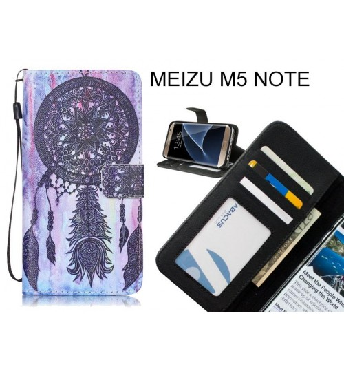 MEIZU M5 NOTE case 3 card leather wallet case printed ID