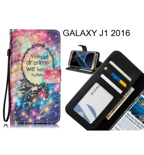 GALAXY J1 2016 case 3 card leather wallet case printed ID