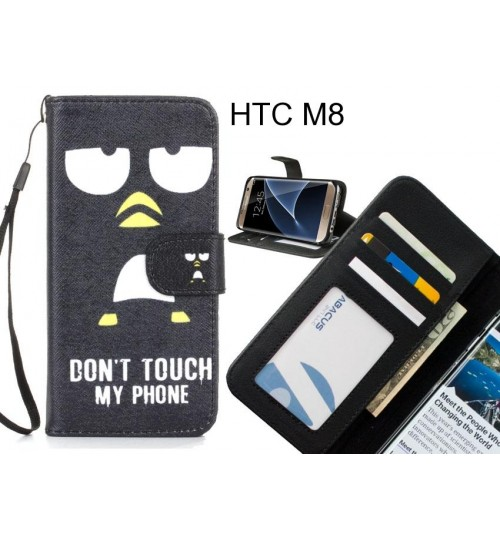 HTC M8 case 3 card leather wallet case printed ID