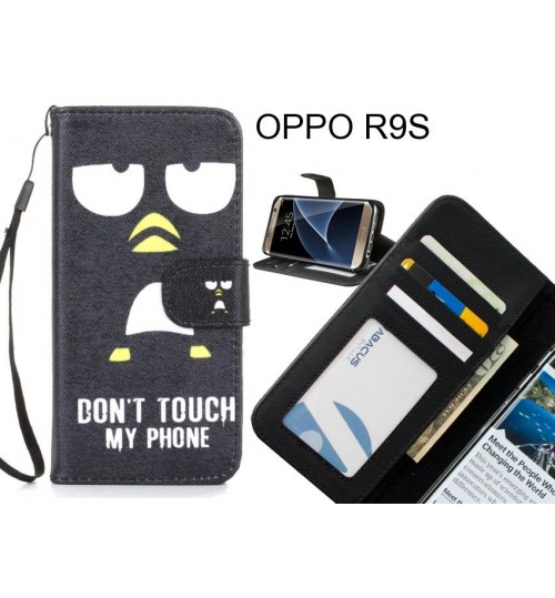 OPPO R9S case 3 card leather wallet case printed ID