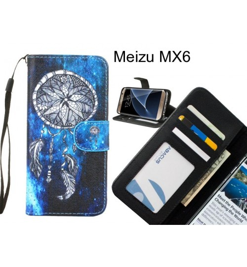 Meizu MX6 case 3 card leather wallet case printed ID