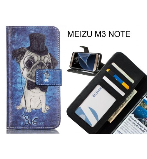 MEIZU M3 NOTE case 3 card leather wallet case printed ID