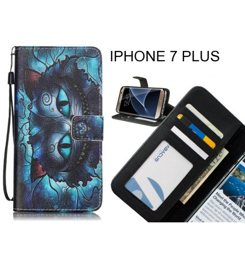IPHONE 7 PLUS case 3 card leather wallet case printed ID
