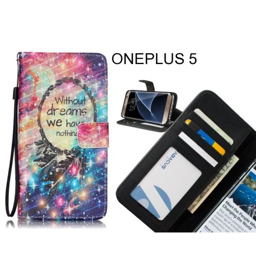 ONEPLUS 5 case 3 card leather wallet case printed ID