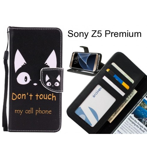 Sony Z5 Premium case 3 card leather wallet case printed ID