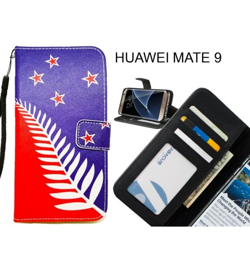 HUAWEI MATE 9 case 3 card leather wallet case printed ID