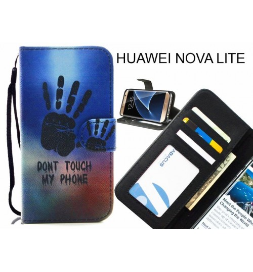 HUAWEI NOVA LITE case 3 card leather wallet case printed ID