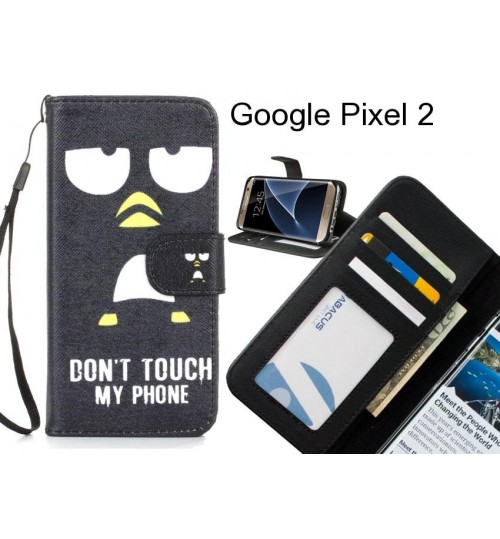 Google Pixel 2 case 3 card leather wallet case printed ID