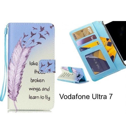 Vodafone Ultra 7 case 3 card leather wallet case printed ID