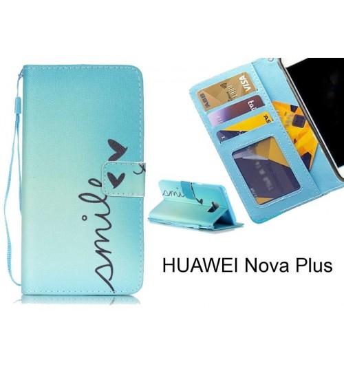 HUAWEI Nova Plus case 3 card leather wallet case printed ID
