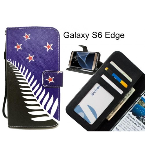 Galaxy S6 Edge case 3 card leather wallet case printed ID