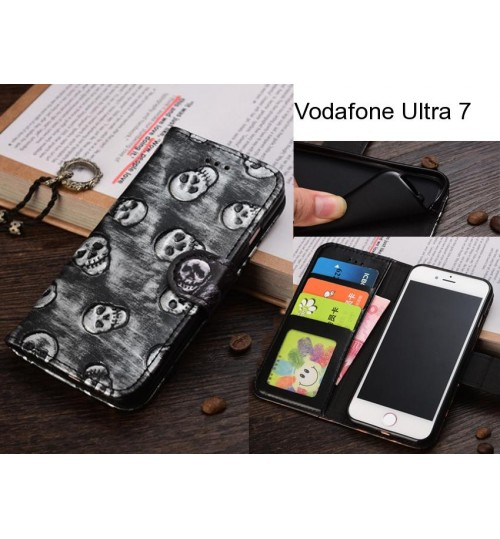 Vodafone Ultra 7  case Leather Wallet Case Cover