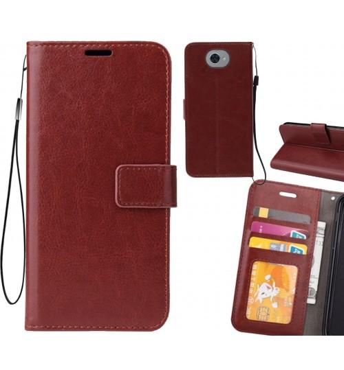 Huawei Y7 case Fine leather wallet case