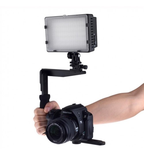 Universal Camera Arm Quick Flip Flash Bracket Grip Holder For Nikon Canon DSLR