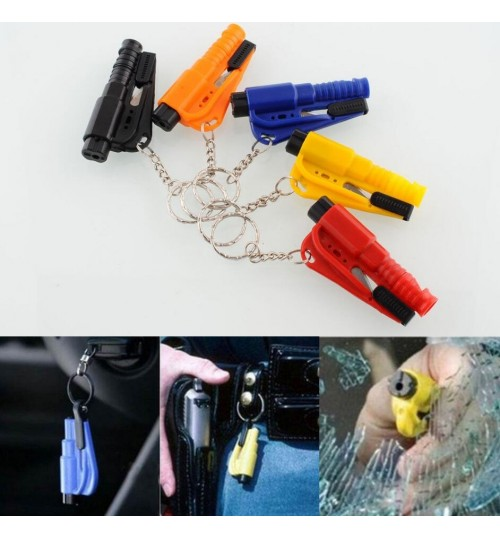 Car Emergency Hammer Belt Window Breaker Key whistle rescue Tool
