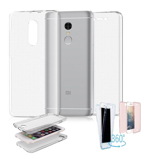 Xiaomi Note 4X case 2 piece transparent full body protector case