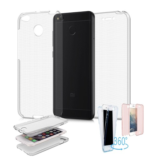 Xiaomi  4A case 2 piece transparent full body protector case