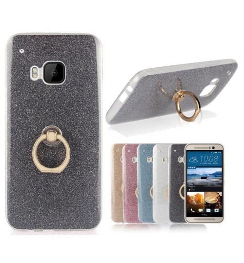 HTC M10  case Soft tpu Bling Kickstand Case with Ring Rotary Metal Mount