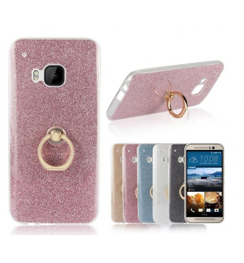 HTC M8 case Soft tpu Bling Kickstand Case with Ring Rotary Metal Mount