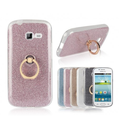 GALAXY Trend Duos case Soft tpu Kickstand Case with Ring Rotary Metal Mount