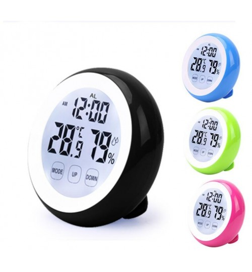 Digital Thermometer Touch Screen Hygrometer Hygrometer Time Temperature Clock