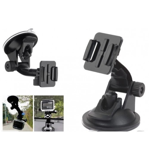Car Suction Cup Mount  Holder compatible with GOPRO