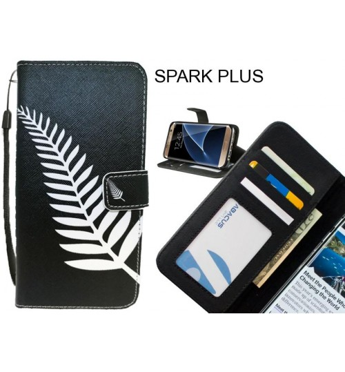 SPARK PLUS case 3 card leather wallet case printed ID