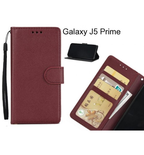 Galaxy J5 Prime case Silk Texture Leather Wallet Case