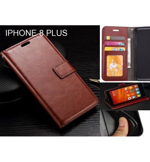 IPHONE 8 PLUS case Fine leather wallet case