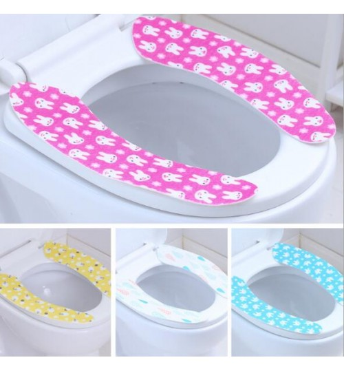 Sticky Toilet Mat Seat Cover Washable Twin Set