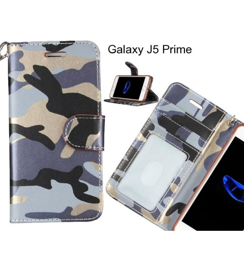 Galaxy J5 Prime case camouflage leather wallet case cover
