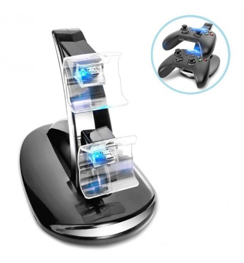 Xbox One Controller LED Light Dual Controller Charging Dock Station Charger