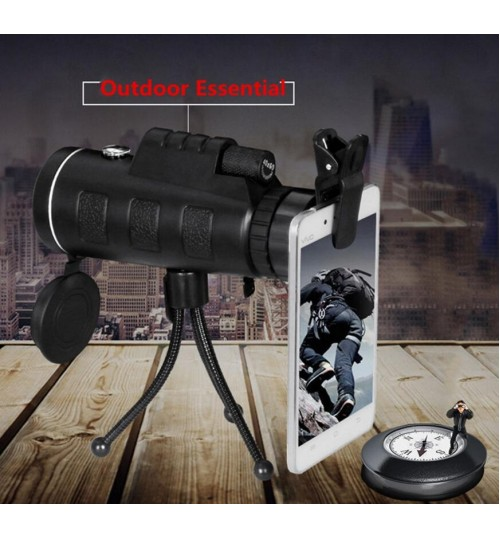Monocular Telescope Travel HD Dual Focus Optical Prism 40X60 3st