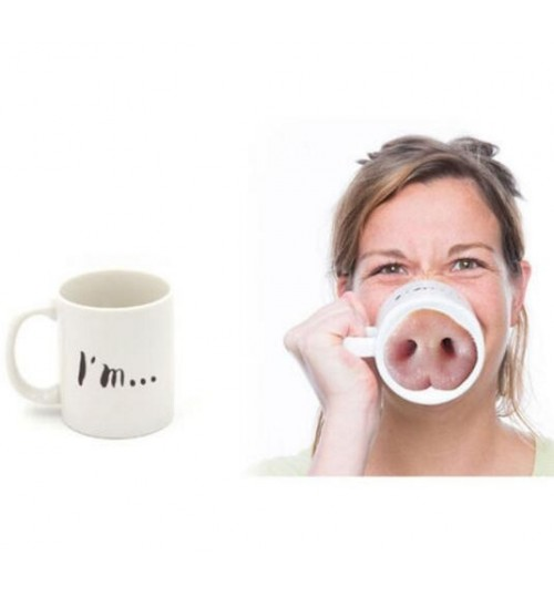 Coffee Mug Fun Pig Nose