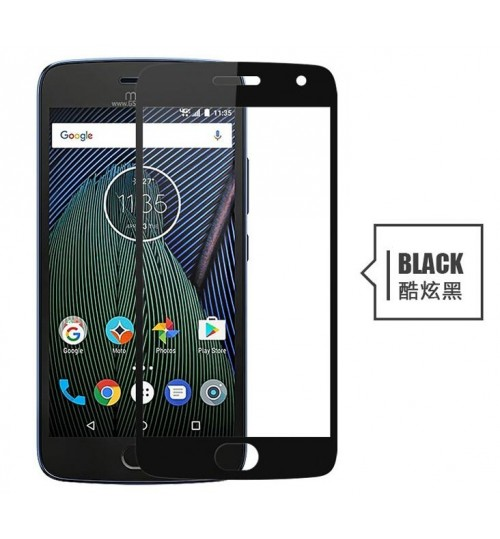 MOTO G5S Plus fully covered Curved Tempered Glass screen protector