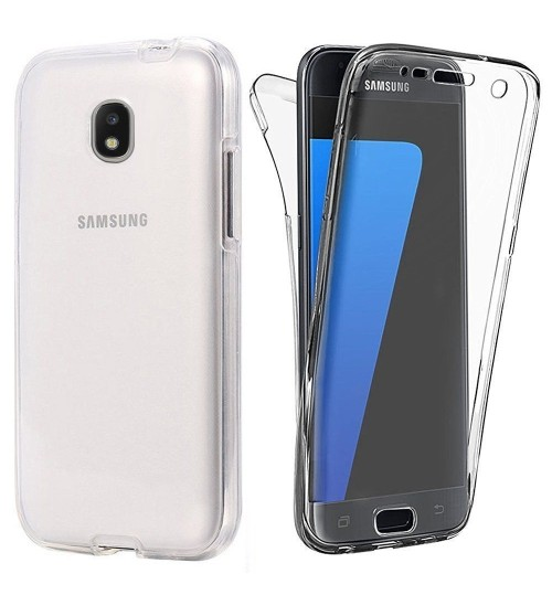 Galaxy J3 PRO 2017 case 2 piece transparent full body protector case