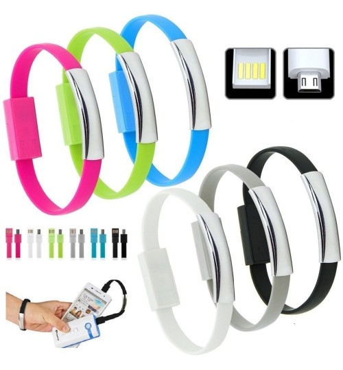 Micro USB Cable Wristband  For Android