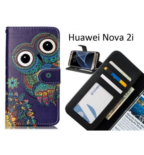 Huawei Nova 2i  case 3 card leather wallet case printed ID