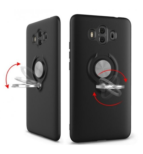 Huawei Mate 10 PRO Case Heavy Duty Ring Rotate Kickstand Case Cover